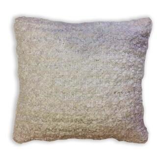 Silver Striped Decorative Pillow