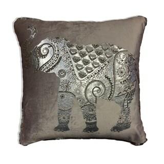Silver Elephant Decorative Pillow