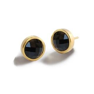 Sonia Hou Fire 3-Way Convertible 24K Gold Black Onyx Gemstone Stud Earrings