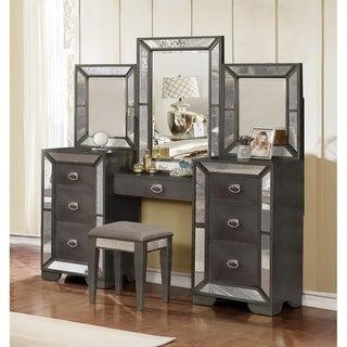 Best Quality Furniture Victoria 4-piece Deluxe Vanity