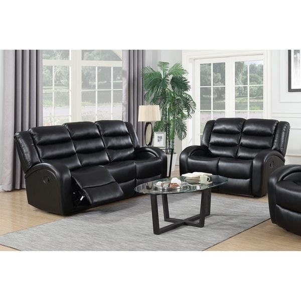 GTU Furniture Modern Contemporary Sleek & Chic, Lever, Faux Leather  Reclining Sofa Loveseat, Sofás Reclinables Para Adultos
