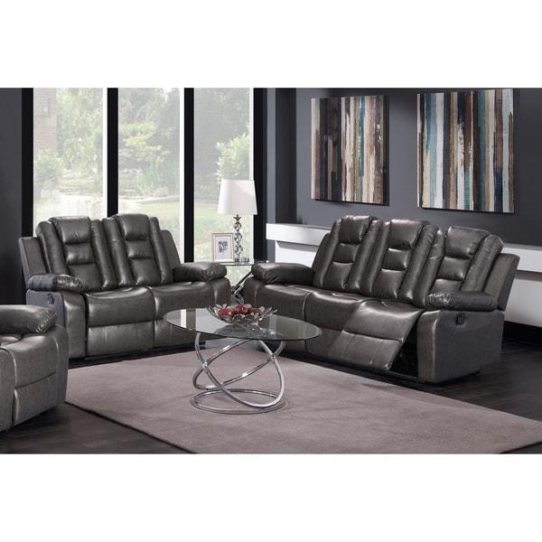Shop GTU Furniture Modern Contemporary Sleek, Lever, Faux Leather ...