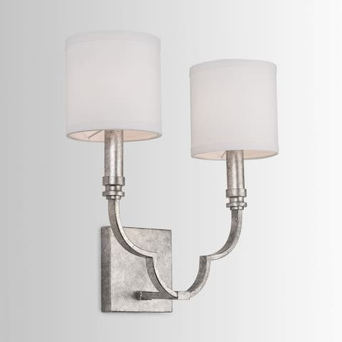 Marisell 2-light Antique Silver Wall Sconce