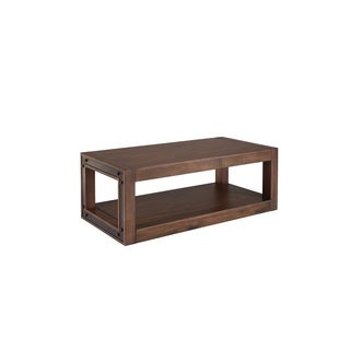 Standard Furniture Belfort Dark Merlot Finish Wood Veneer Coffee Table