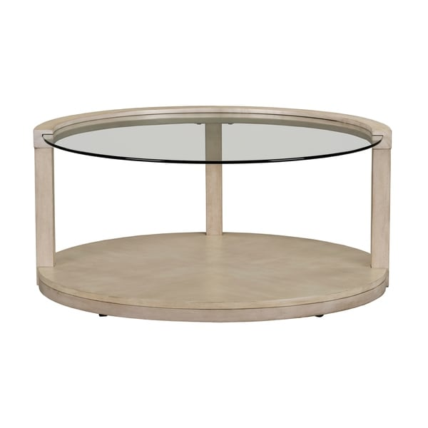 Standard Furniture Cleo White Wood Round Coffee Table