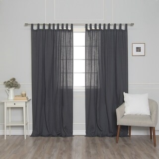 Aurora Home French Linen Tab Top (150 GSM) Single Curtain Panel