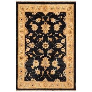 Handmade Vegetable Dye Oushak Wool Rug (Afghanistan) - 2' x 3'