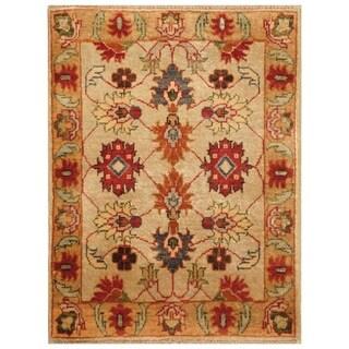 Handmade Vegetable Dye Oushak Wool Rug (Afghanistan) - 2' x 3'2
