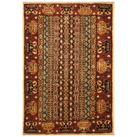 Handmade One-of-a-Kind Kazak Wool Rug (Afghanistan) - 2'1 x 3'1