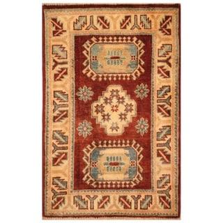 Handmade Kazak Wool Rug (Afghanistan) - 2'1 x 3'