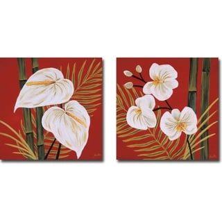 Sun Kissed I & II by Yvette St. Amant 2-piece Gallery Wrapped Canvas Giclee Art Set (Ready to Hang)