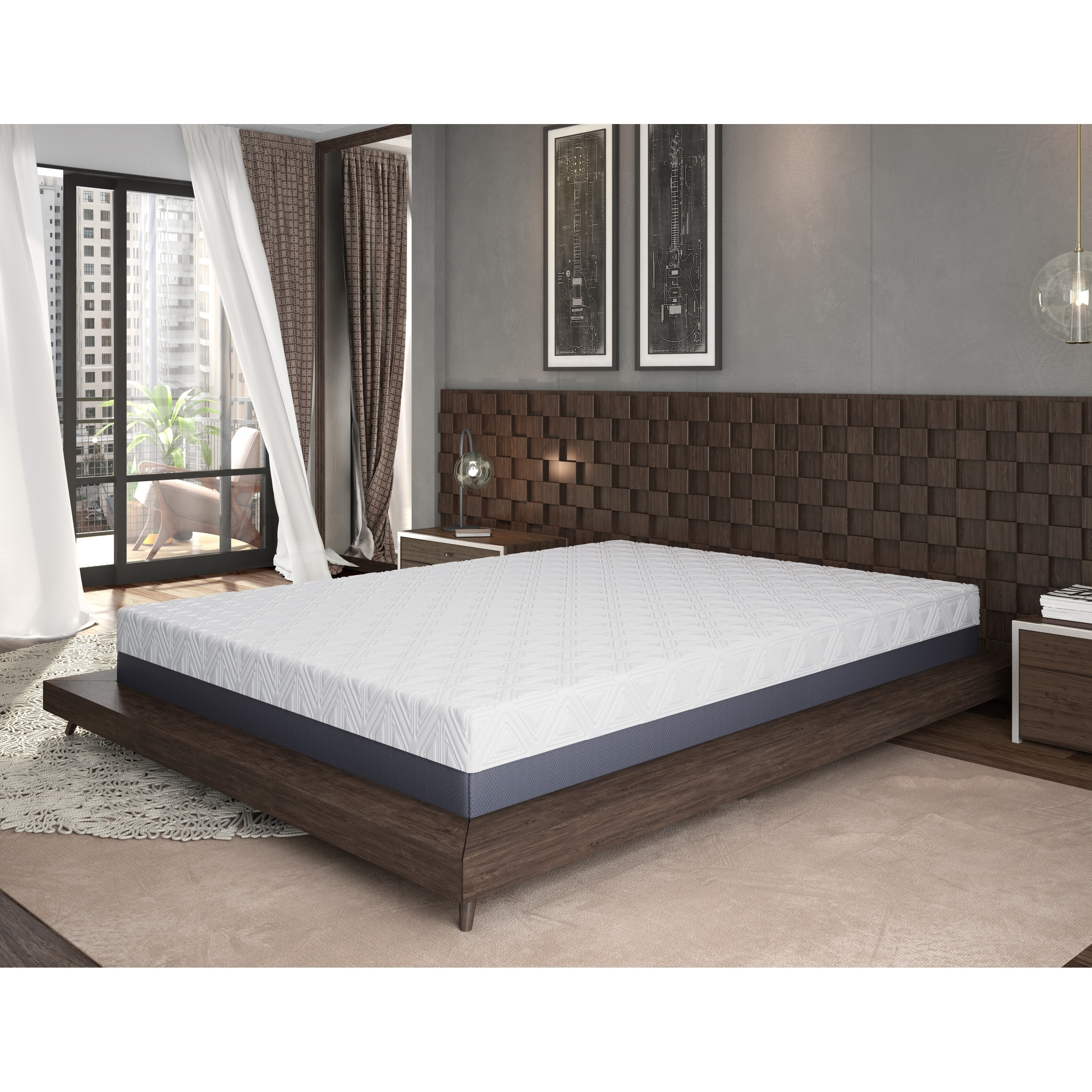 Omne Sleep 10 Inch Twin Size Gel Memory Foam Mattress Ebay