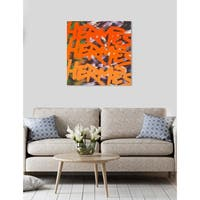Oliver Gal 'NY Fashion Week One' Fashion Wall Art Canvas Print - Orange