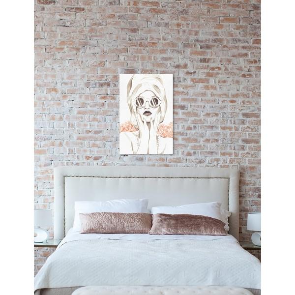 Oliver Gal 'Bath Bomb Beauty' Fashion Wall Art Canvas Print - White
