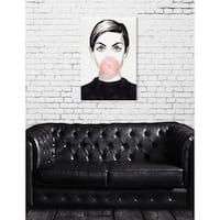 Oliver Gal 'Bubblegum Idol' Fashion Wall Art Canvas Print - White
