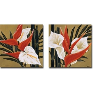 Sun Kissed III & IV by Yvette St. Amant 2-piece Gallery Wrapped Canvas Giclee Art Set (Ready to Hang)