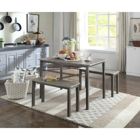 Tool less Boltzero Dining Table with 2 Benches