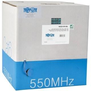 Tripp Lite 1000ft Cat6 550MHz Gigabit Bulk Solid PVC CMR Cable Blue 1