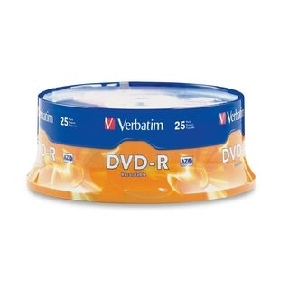 Verbatim AZO DVD-R 4.7GB 16X with Branded Surface - 25pk Spindle