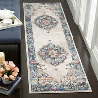 "Safavieh Bristol Vintage - Light Grey/Blue Polyester Rug - 2'3"" x 6' Runner"