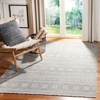 Safavieh Hand-Woven Cedar Brook Modern & Contemporary - Grey/Ivory Cotton Rug - 5' x 8'