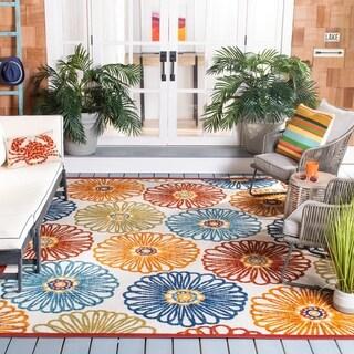 Safavieh Cabana Indoor/ Outdoor Goldia Floral Polyester Rug