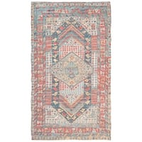 Safavieh Hand-Woven Safran Modern & Contemporary - Fuchsia/Blue Cotton Rug - 4' x 6'