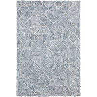 Safavieh Hand-Tufted Abstract Modern & Contemporary - Blue Wool Rug - 4' x 6'
