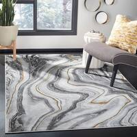 "Safavieh Craft Modern & Contemporary - Grey/Gold Polyester Rug - 5'3"" x 7'6"""