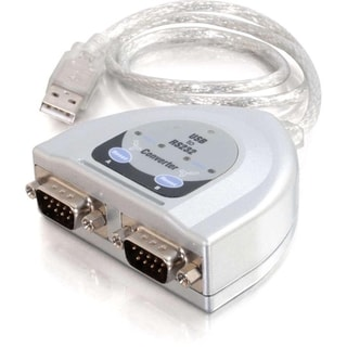 C2G 2ft USB to 2-Port DB9 Serial Adapter Cable