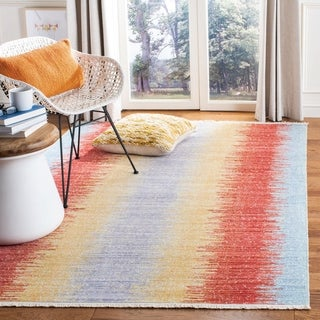 Safavieh Windsor Yosefa Stripe Cotton/ Polyester Distressed Rug with Fringe