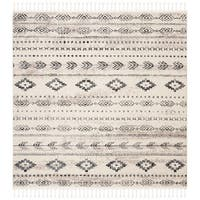 "Safavieh Hand-Knotted Marrakech Traditional - Ivory/Navy Wool Tassel Area Rug - 6'7"" x 6'7"" Square"