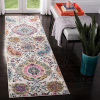 Safavieh Madison Belle Paisley Boho Glam Cream/ Light Grey Rug - 11' Round