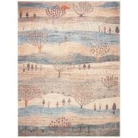 Safavieh Gabbeh Transitional - Cream/Blue Rug - 8' x 10'