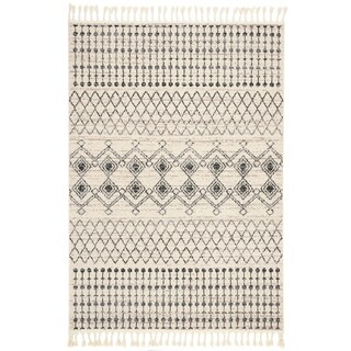 Safavieh Hand-Knotted Marrakech Traditional - Ivory/Navy Wool Tassel Area Rug - 8' x 10'