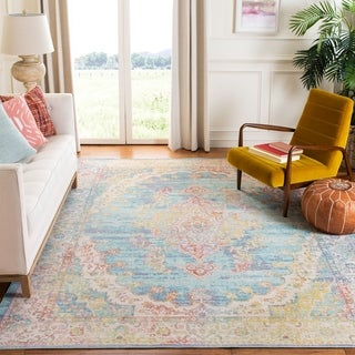 Safavieh Windsor Virge Shabby Chic Oriental Polyester Rug with Fringe