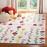 Safavieh Kids Hand-Tufted Kids & Tween - Ivory/Pink Wool Rug - 8' x 10'