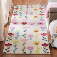 Safavieh Hand-Tufted Safavieh Kids Kids & Tween - Grey/Pink Wool Rug - 8' x 10'