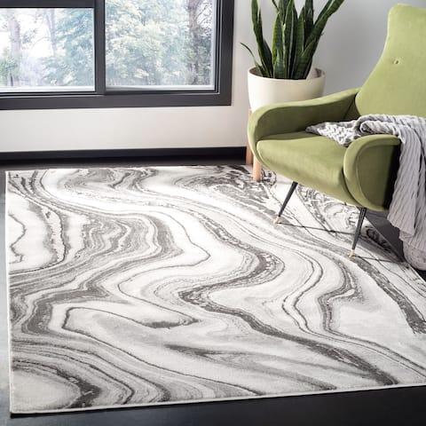 Safavieh Craft Modern & Contemporary - Grey/Gold Polyester Rug - 8' x 10'