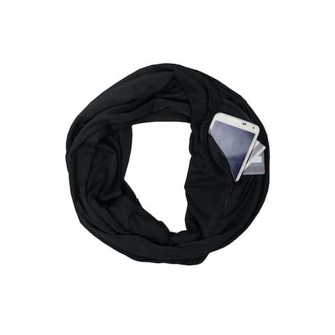 Lightweight Infinity Travel Scarf with Pockets