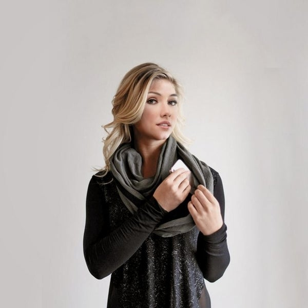 Lightweight Infinity Travel Scarf with Pockets. Opens flyout.