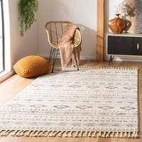Safavieh Hand-Knotted Marrakech Traditional - Ivory/Navy Wool Rug - 9' x 12'