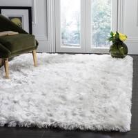 Safavieh Hand-Tufted Ocean Shag Glam - Ivory Polyester Rug - 9' x 12'
