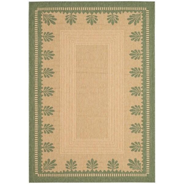 Safavieh Martha Stewart Collection Modern & Contemporary - Sand/Green Rug - 9' x 12'