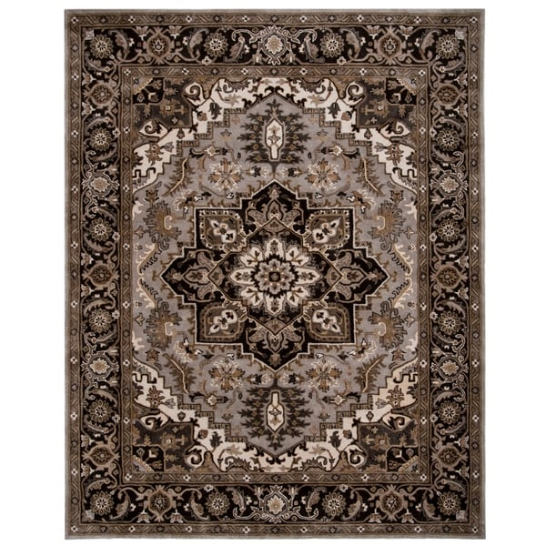 aff3b00966952 Shop Safavieh Hand-Tufted Royalty Traditional - Silver/Charcoal Wool Rug -  7' x 7' Square - On Sale - Free Shipping Today - Overstock - 26289784