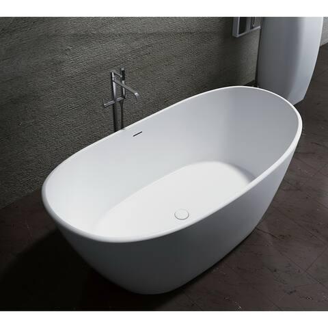 """Manhattan 59"""" Solid Surface Freestanding Bathtub"""