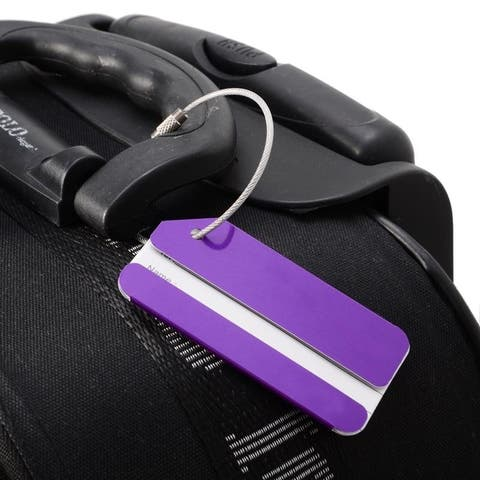Colorful Aluminum Keyring Luggage Tags (Set of Two)