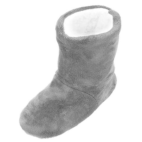 Sherpa Lined Slippers, Solid Bootie Slippers, Women's Slippers