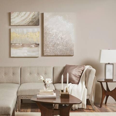 Madison Park Glistening Dream Hand Embellished Canvas Set of 3 - Multi