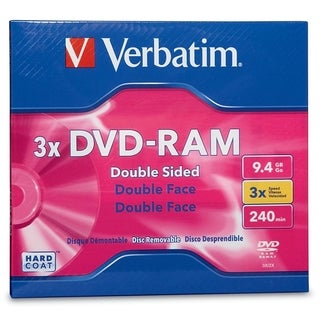 Verbatim DVD-RAM 9.4GB 3X Double Sided, Type 4 with Branded Surface -